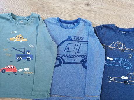 Koszulka 3Pak rozm. 110 Cool Club bluzka w samochody
