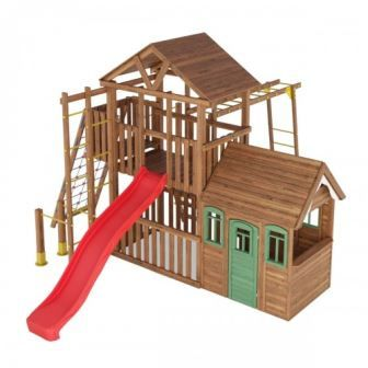 Детская спортивно-игровая площадка Лидер-6 от производителя.