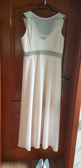 Suknia balowa ecru 46