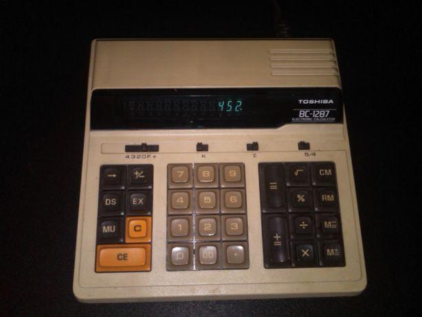 Калькулятор сетевой раритет TOSHIBA BC-1287, JAPAN тошиба Япония