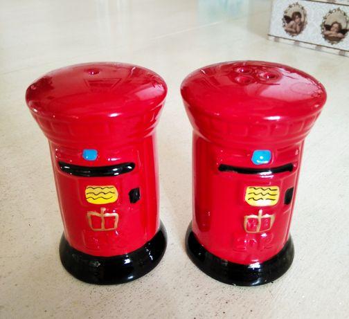 Ceramika zestaw brytyjska skrzynka pocztowa na przyprawy solniczka i