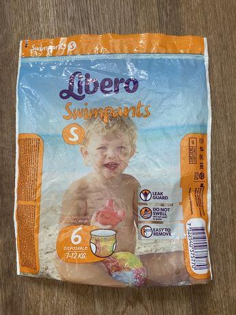 Подгузники-трусики детские для плавания Libero Swimpants Small 7-12 кг