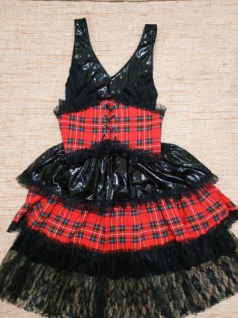 Платье Шотландскую клетку чужестранка карнавальное ролевые белье