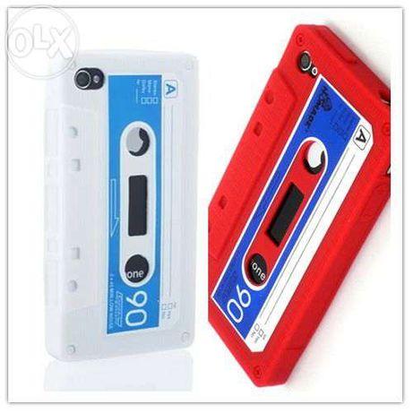 capa cobertura vintage k7 Retro Silicone Cassette Apple iPhone 4
