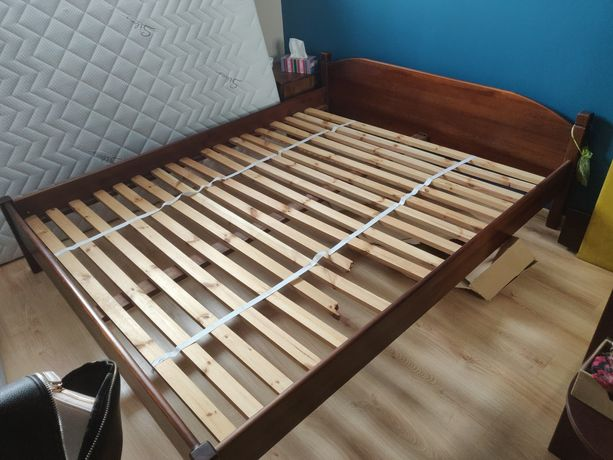 Łóżko rama drewniane stelaż 160x200