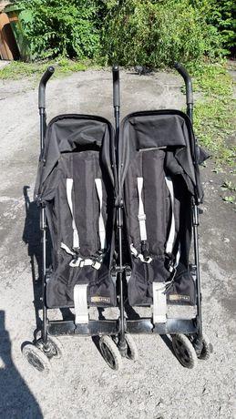 Wózek spacerowy typu parasolka bliźniaczy Koelstra