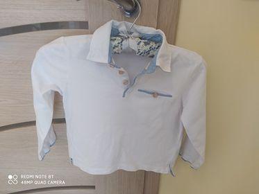 Koszulka polo,r 110 biała