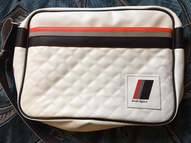 Наплечная сумка Audi Heritage Messenger Bag оригинальная.