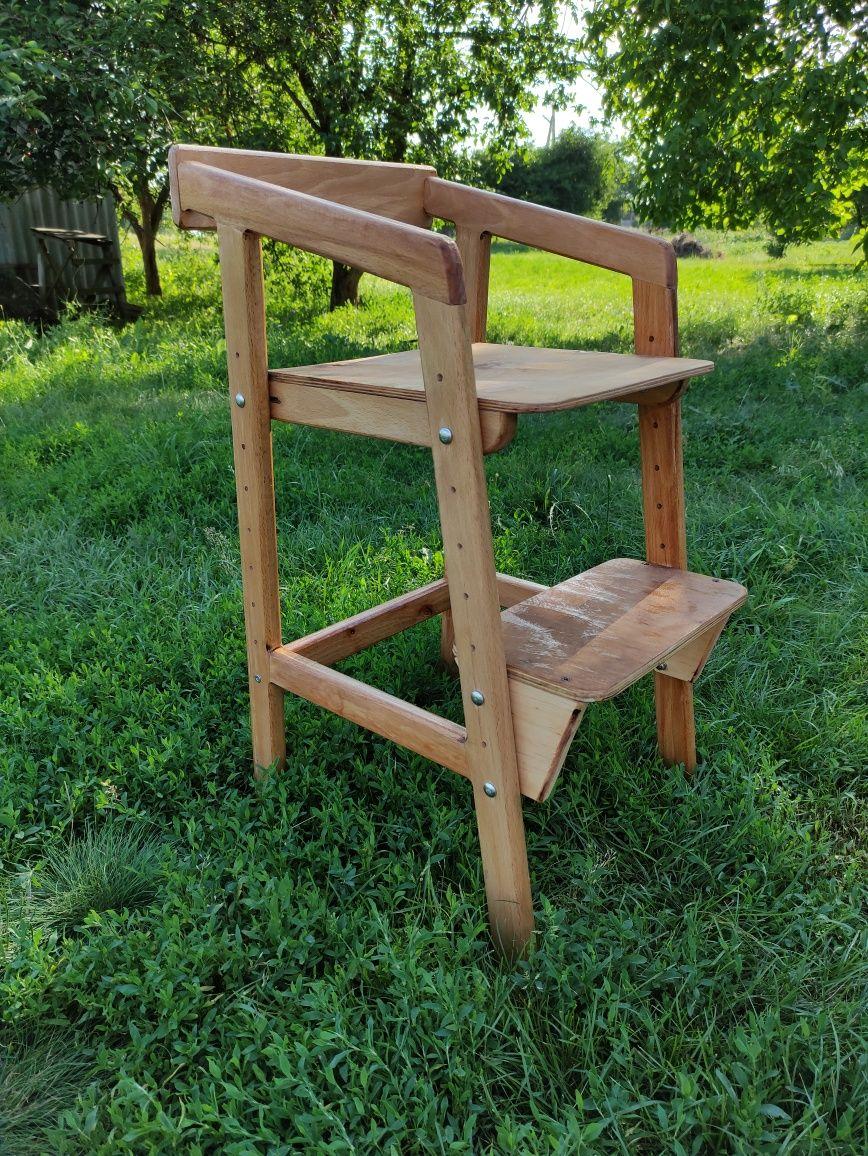 Растущий стул детский деревянный