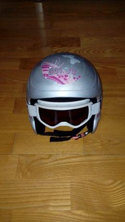 Kask narciarski z goglami dla dziewczynki