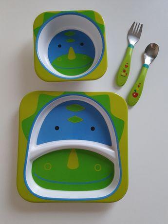 Тарелки Skip hop Zoo+ Столовые приборы Chicco
