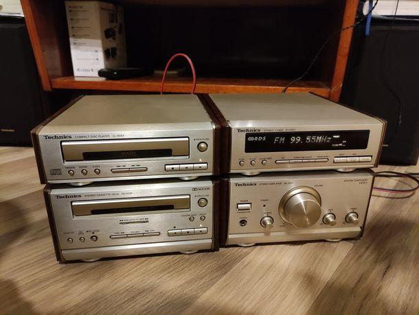 Technics HD 51 mini wieża CD kaseta radio super głośniki