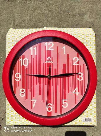 Годинник настінний, червоний