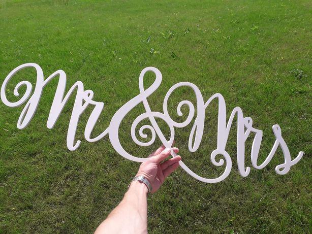 Mr & Mrs (Деревяний виріб до фотозони)