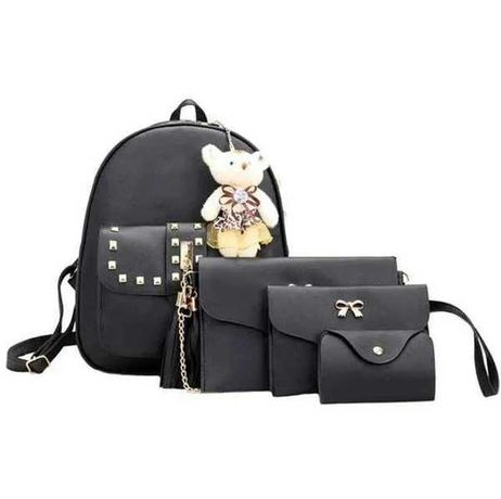 Женская сумка 4 в 1 ЧЕРНАЯ Teddy Back Pack Bag