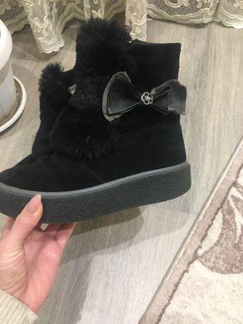 Ботинки на дівчинку зима