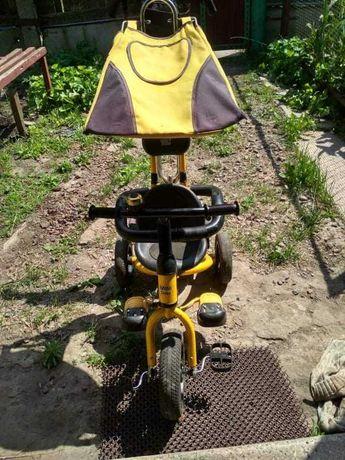 Велосипед 3-х колесный Mini Trike надув. желтый / САМОВЫВОЗ