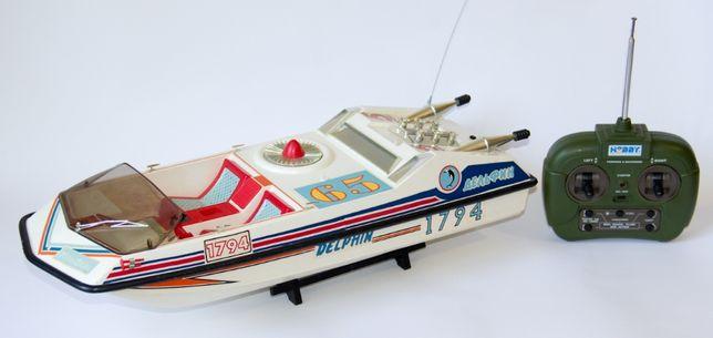 Спортивный катер Дельфин полный комплект игрушка СССР +коробка