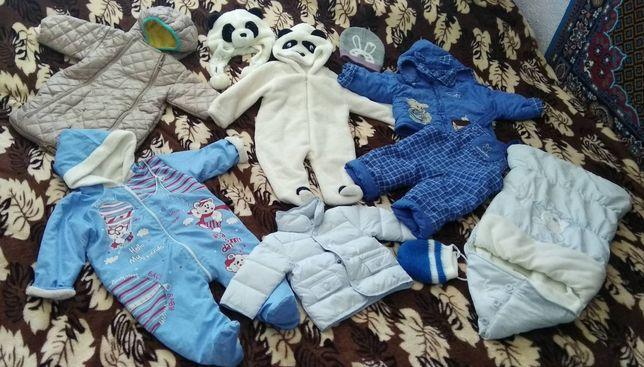 Человечек, панда,Пакет вещей, куртка,конверт флис,шапочка, комбинизон