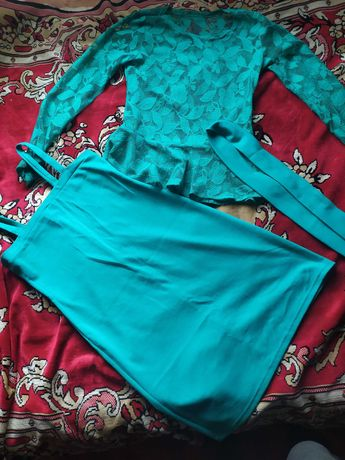 Сукня 2-  сарафан на брительках та мереживний верх з пояском