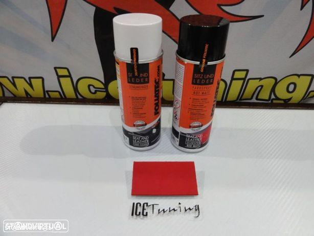 Spray reparação e pintura + spray de limpeza Vermelho Mate para bancos de mota