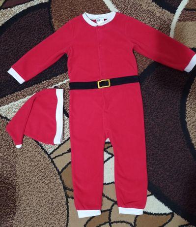 Комбинезон набор костюм новогодний h&m флис костюм новорічний