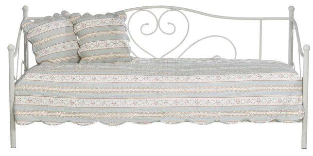 Rama łóżka RINGE 90x200cm kremowe + MATERAC  JYSK