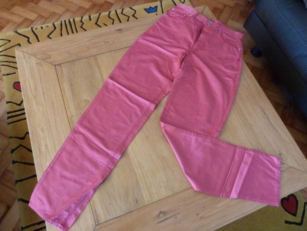 Calças rosa avermelhado, acetinado, Replay (Versace, Lauren)