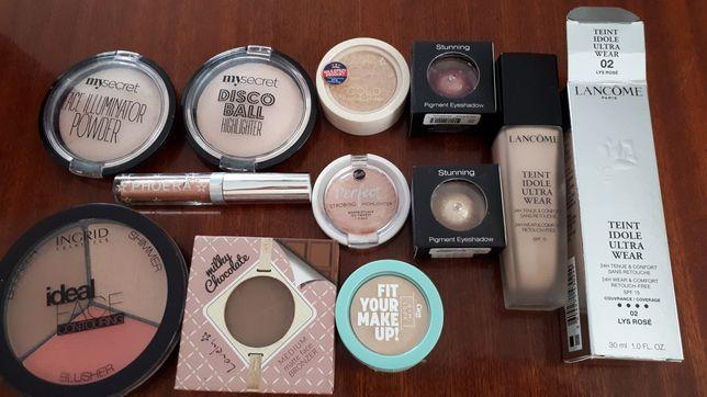 Zestaw kosmetyków makijaż mysecret,Ingrid,bell,Wibo,lovely,Lancome