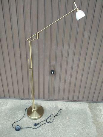 Lampa stojąca regulowana kolor mosiądz szampański