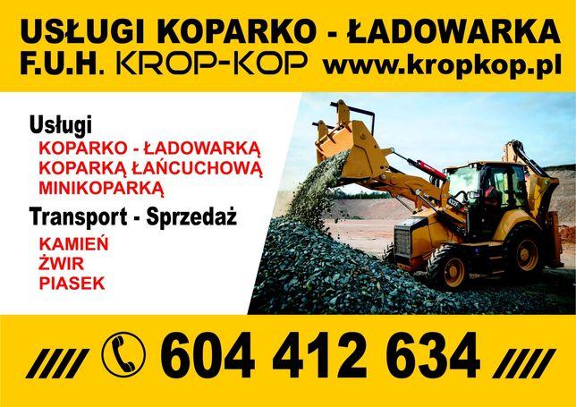 Roboty Ziemne, Transport, Kamien, Żwir, Piasek