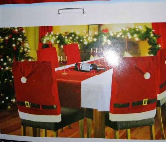 4 welurowe pokorowce na krzesła mikołaj