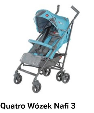 Spacerówka parasolka wózek QUATRO NAFI niebieski