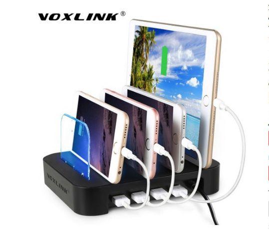 Универсальная зарядка 4 порта USB VOXLINK (док-станция) АКЦИЯ!