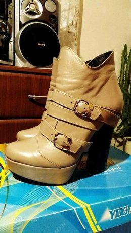 Продам новые кожанные ботинки