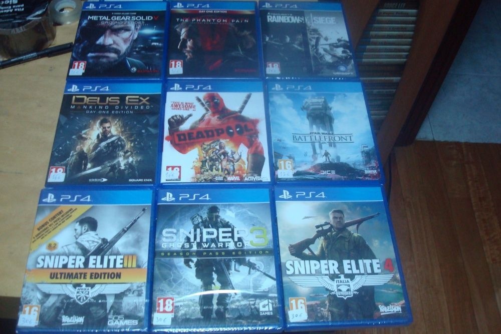 lote 8 jogos originais ps4 ,call of duty ,metal gear solid V the phan Trofa - imagem 1