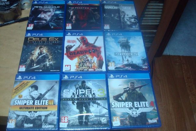 lote 8 jogos originais ps4 ,call of duty ,metal gear solid V the phan