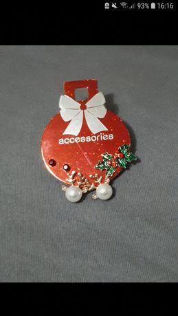 Zestaw kolczyków świątecznych