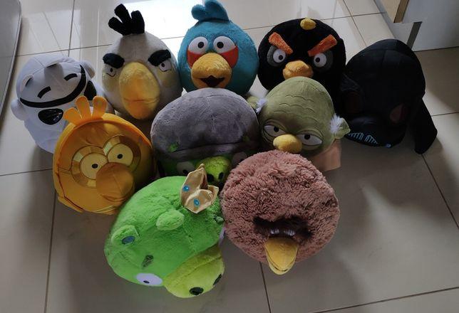 Pluszaki Angry Birds i Angry Birds Star Wars zestaw 10szt duże