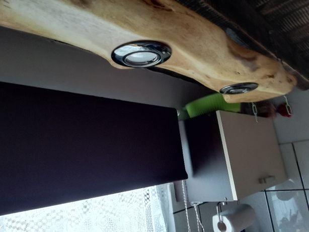 oprawa lampa  drewno akacja