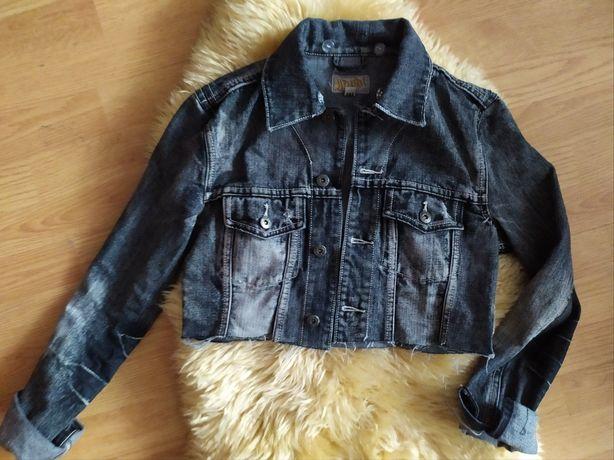 kurtka jeansowa top crop
