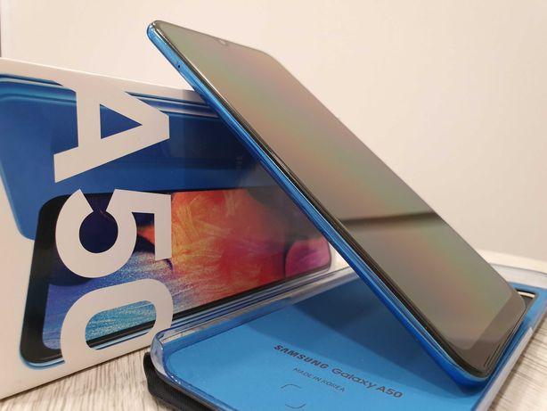 Samsung Galaxy A50 Dual SIM (NIEBIESKI) + oryginalne etui Wallet Case