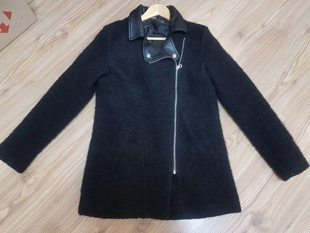 Демисезонное шерстяное пальто косуха куртка H&M на XS-S-M евро 36
