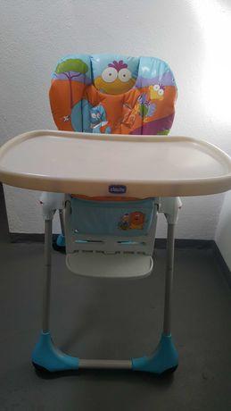 Cadeira de papa, Chicco, reclinável e regulavel em altura