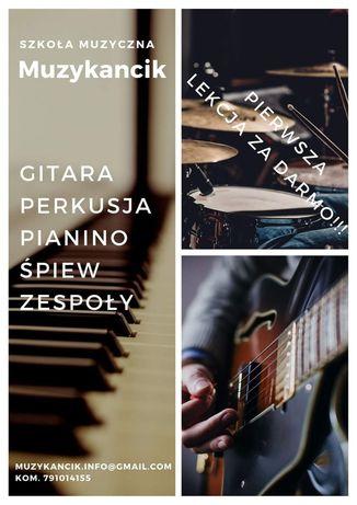 Nauka gry na instrumentach Gitara, perkusja, wokal, pianino