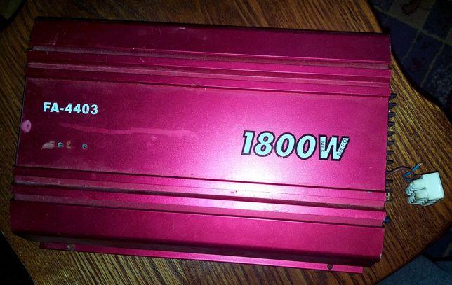 Wzmacniacz 1800w + kable RCA 6-7m