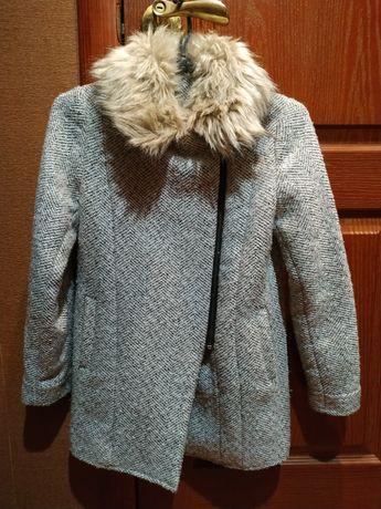 Модное пальто для девочки 8-9 лет