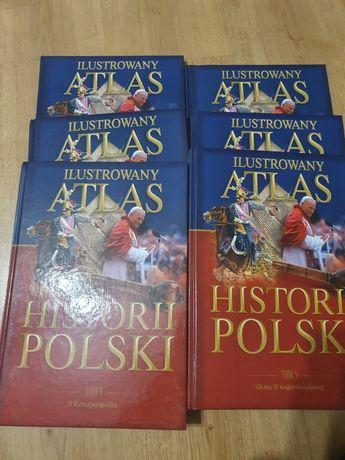 """Ilustrowany atlas historii Polski"" tomy 1-6"