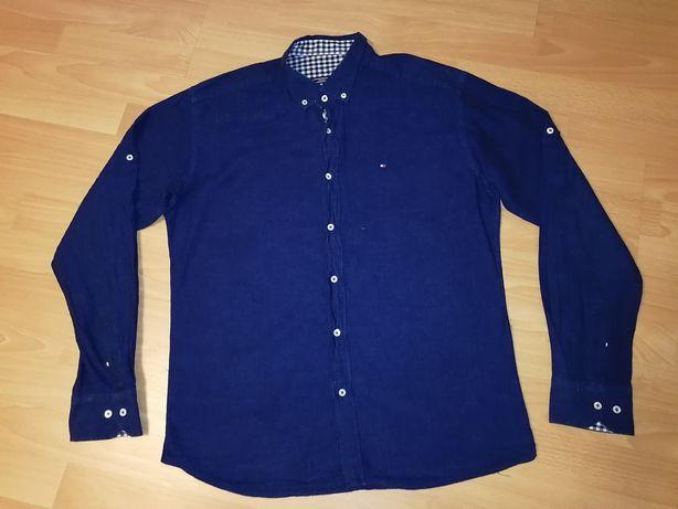 Tommy Hilfiger oryginalna koszula granatowa L