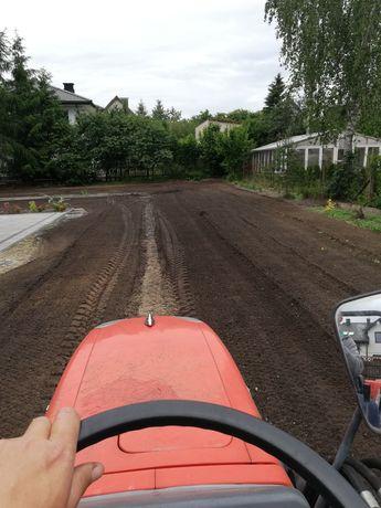 Usługi mini traktorem glebogryzarką separacyjna